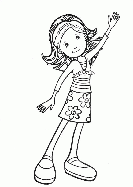girly coloring pages - groovy girls coloring pages