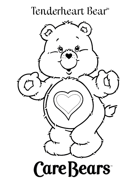 give thanks coloring page - care bear coloring pages