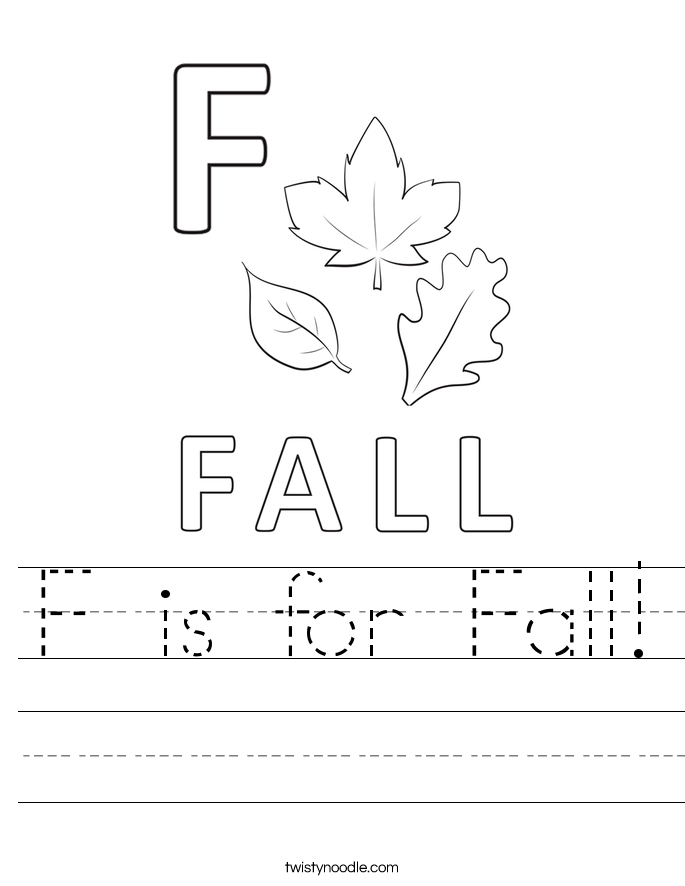 give thanks coloring page - f is for fall 58 worksheet
