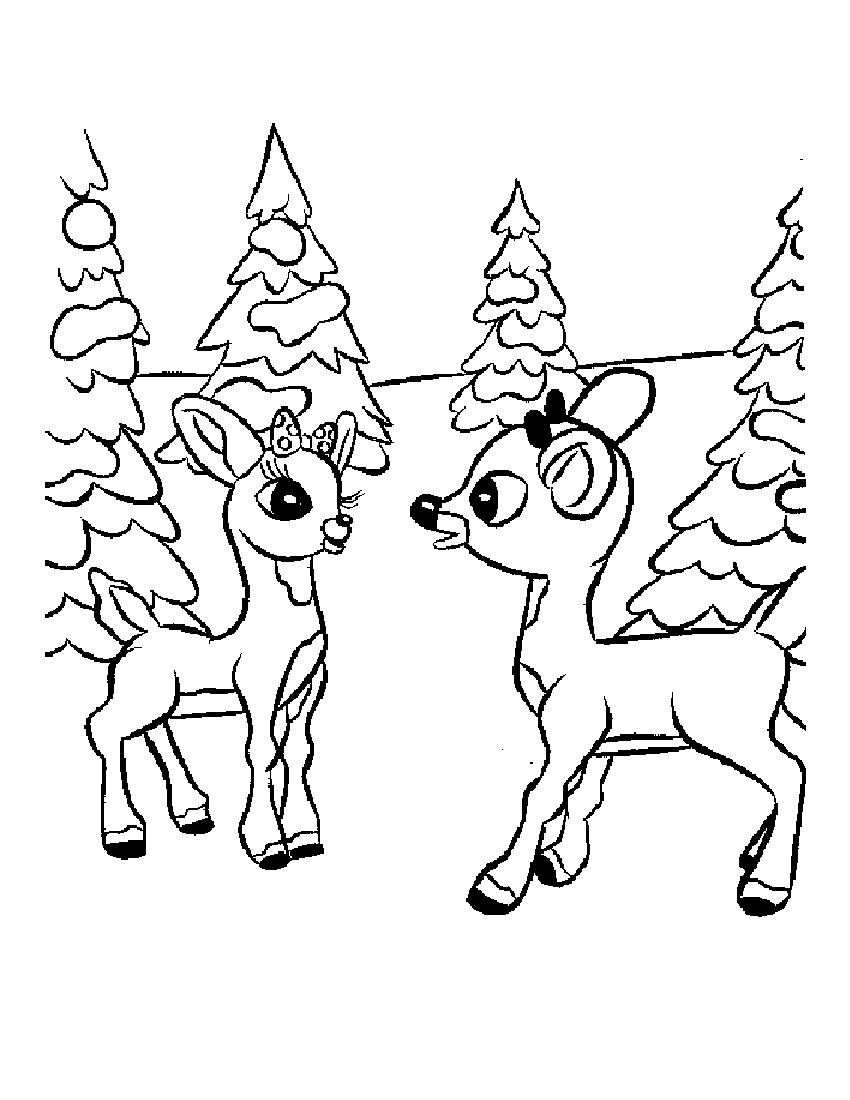 give thanks coloring page - rudolph coloring pages
