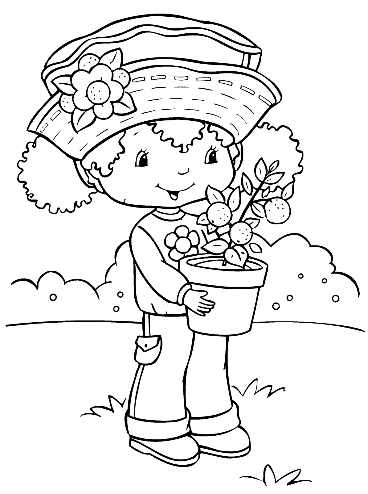 Give Thanks Coloring Page - Strawberry Shortcake Coloring Pages