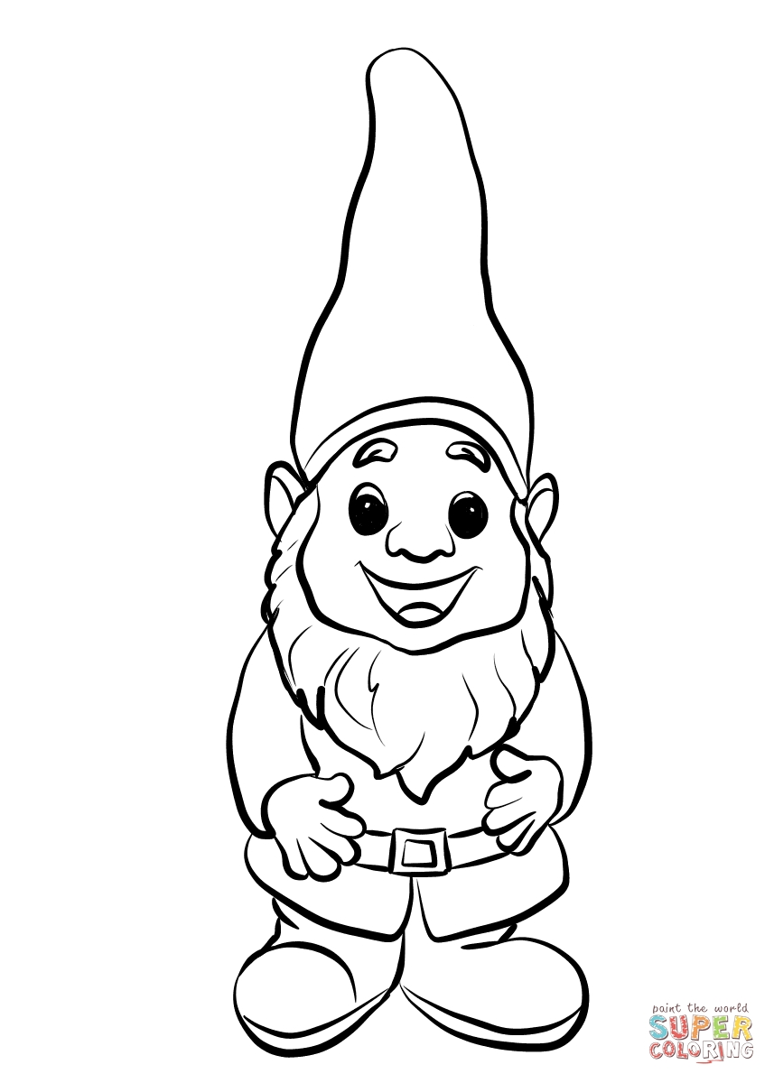 gnome coloring pages - breathtaking gnome coloring pages garden 2 page