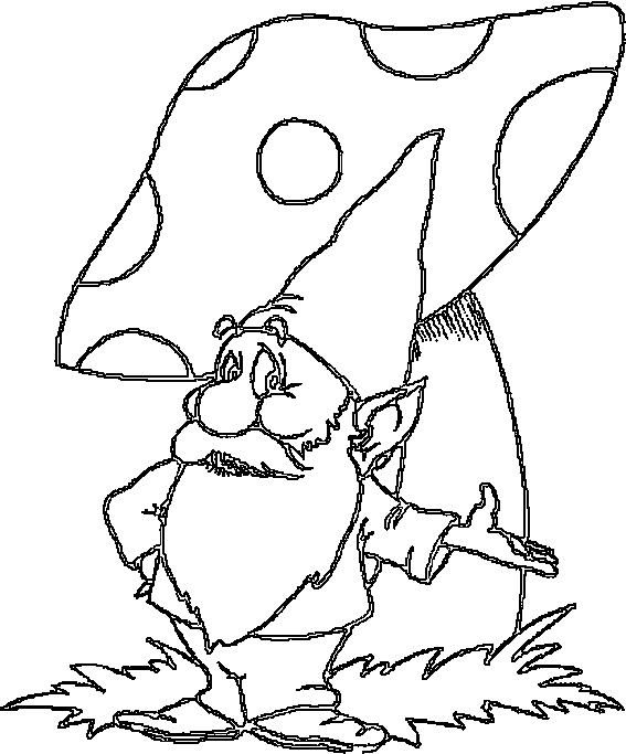 gnome coloring pages - r=gnome house