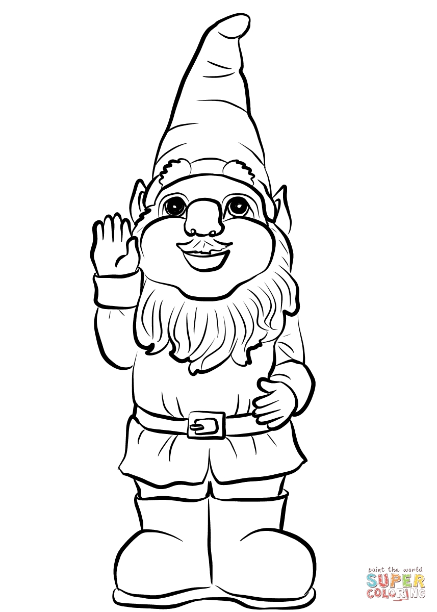 23 Gnome Coloring Pages Images FREE COLORING PAGES Part 3