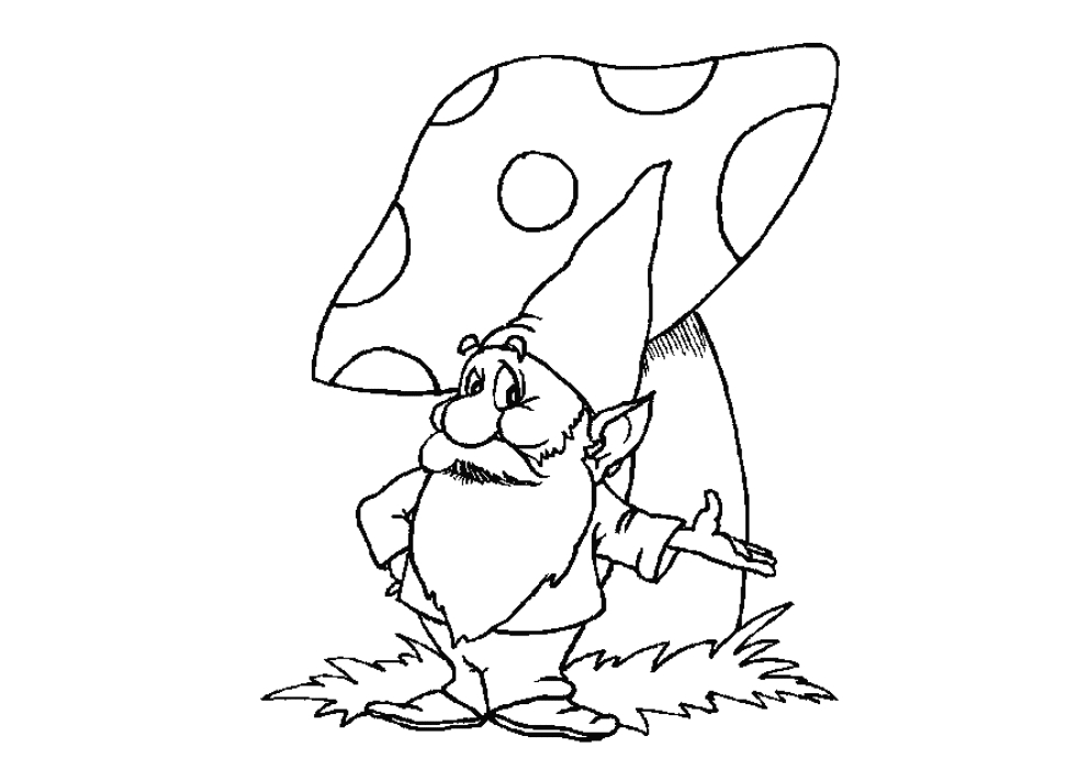 Gnome Coloring Pages - Gnome Coloring Pages Coloringpages1001