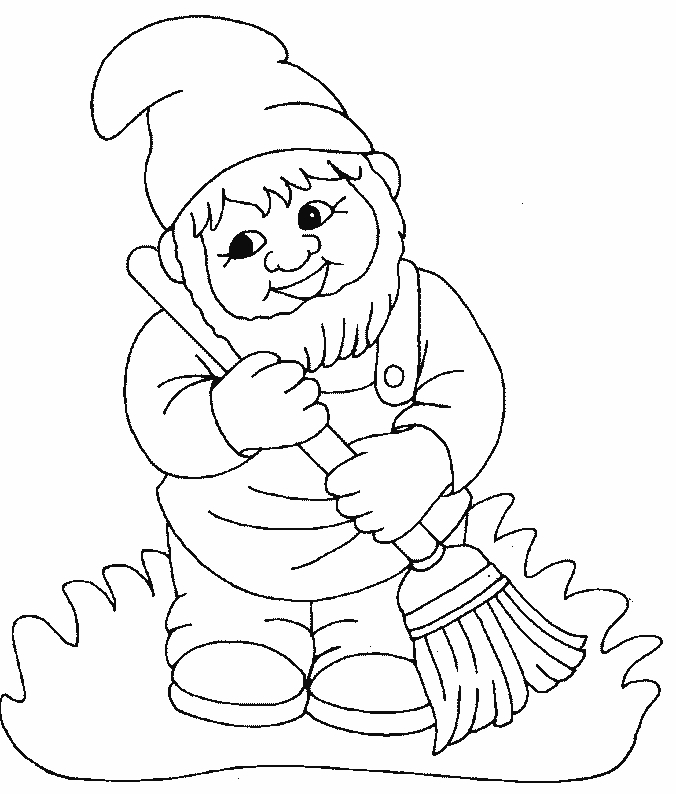 gnome coloring pages - Gnome