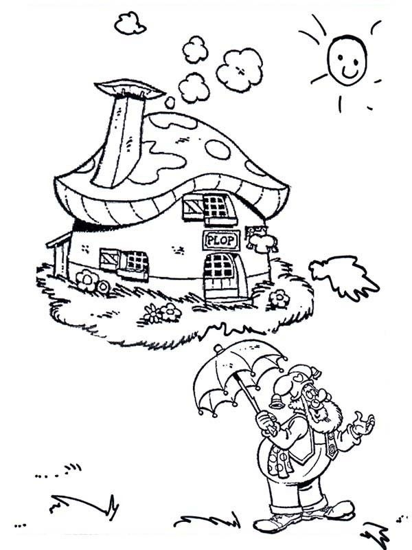 gnome coloring pages plop the gnome coloring pages - Gnome Coloring Pages 2