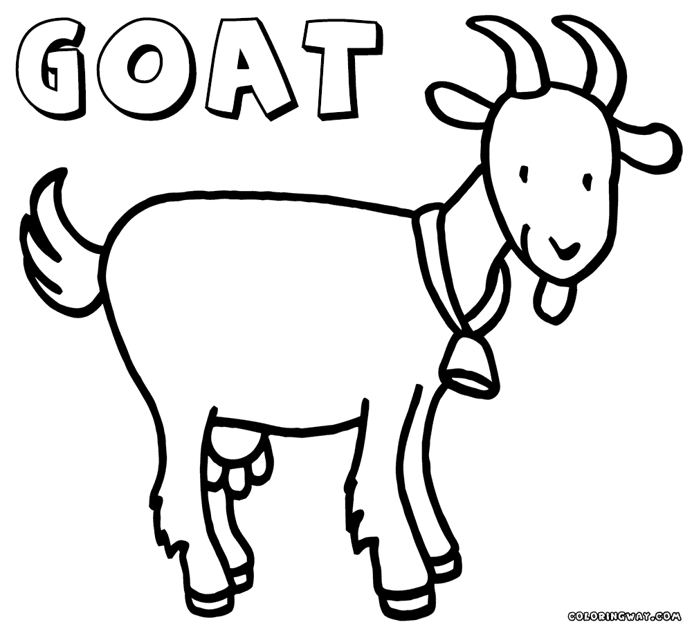 goat coloring pages - coloring pages goat