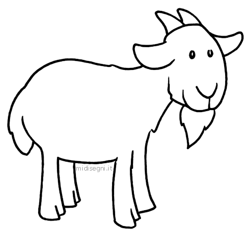 goat coloring pages - goats