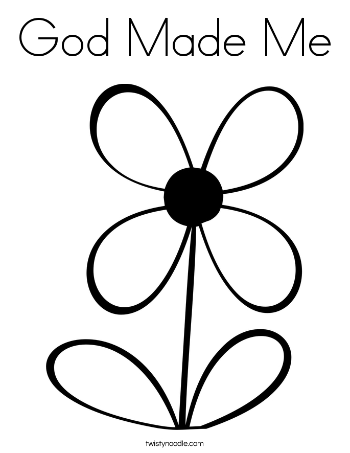 21 God Made Me Coloring Page Printable | FREE COLORING PAGES