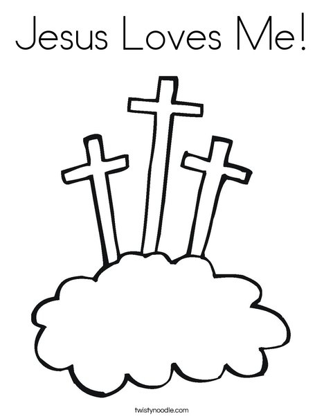 god made me coloring page - jesus loves me 100 coloring page