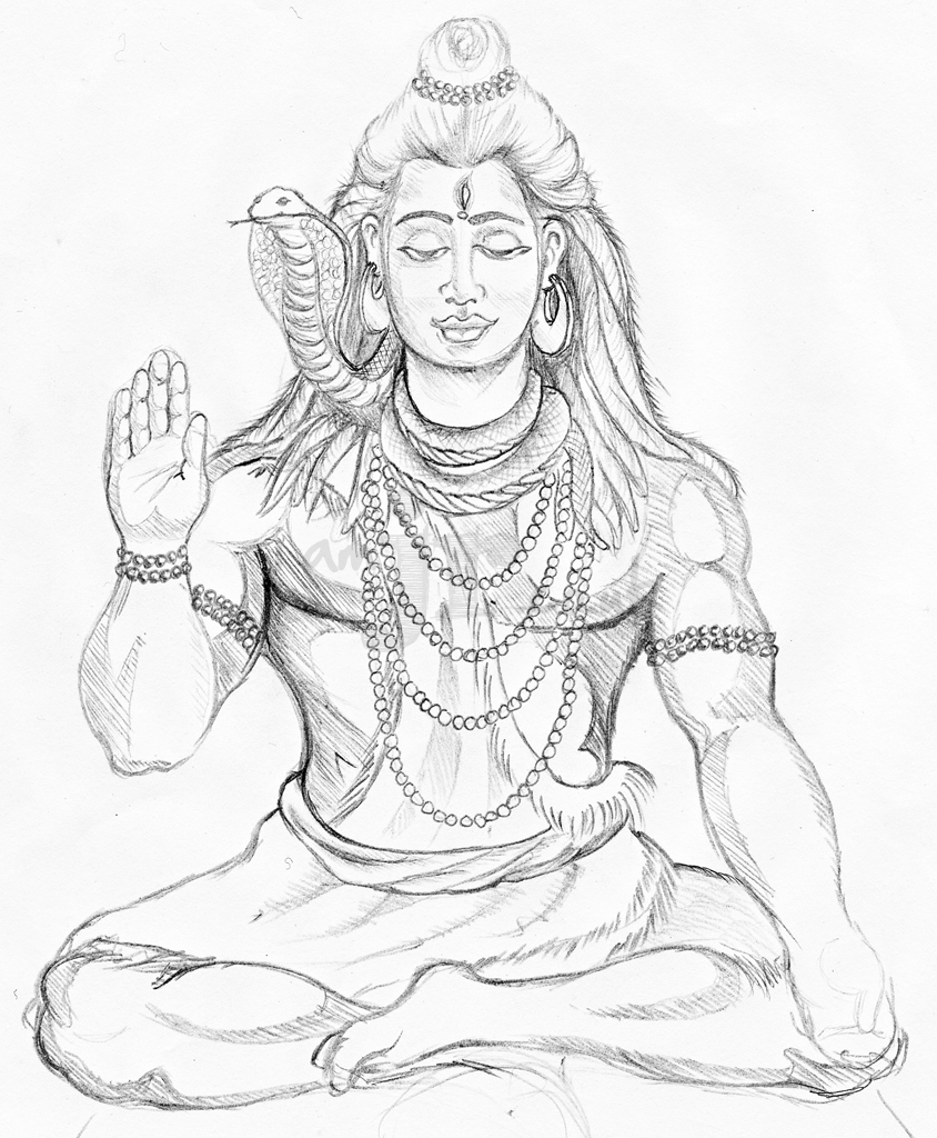 god made me coloring page - shiva