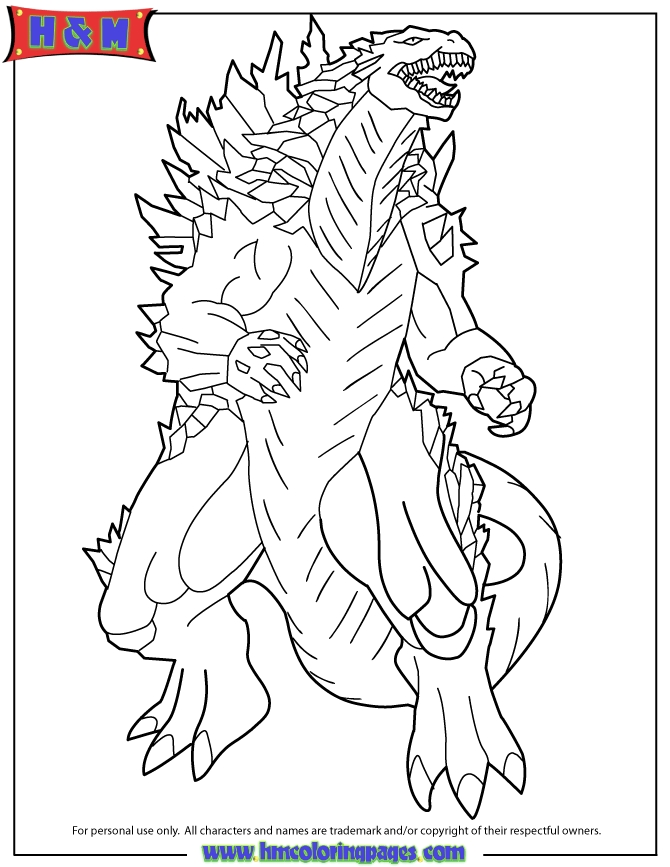 godzilla coloring pages - 2014 godzilla movie poster coloring page
