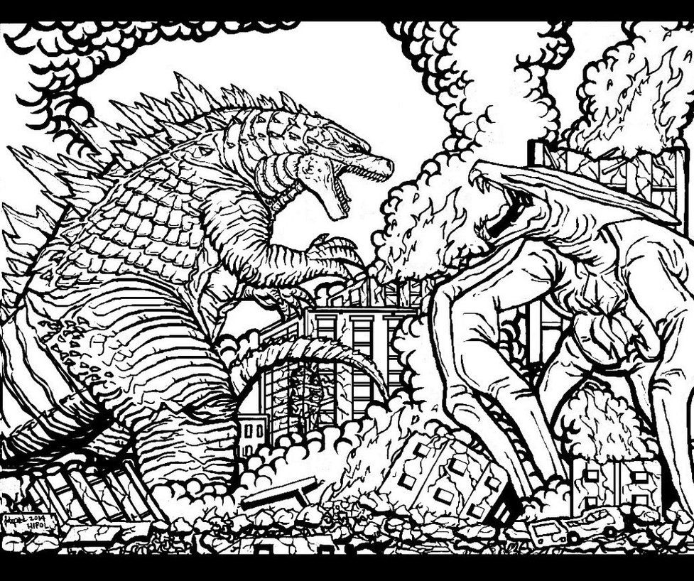 21 Godzilla Coloring Pages Pictures FREE COLORING PAGES