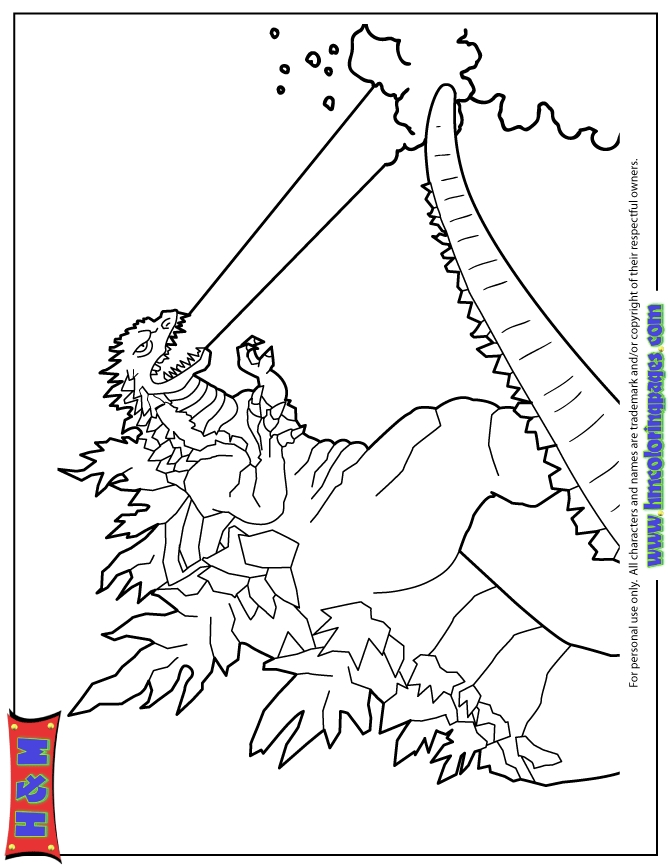 21 Godzilla Coloring Pages Pictures | FREE COLORING PAGES - Part 2