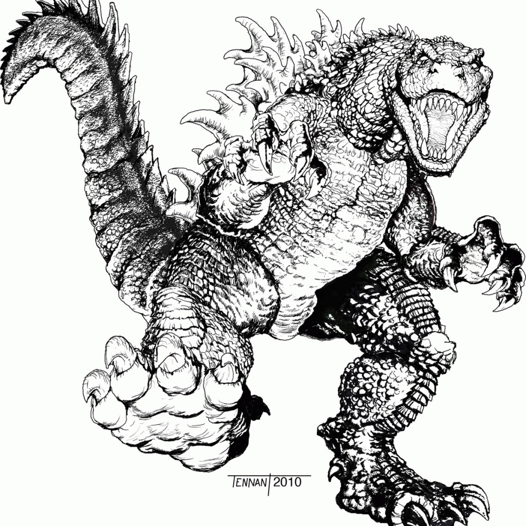 Free Nick Fury From Avengers Coloring Pages: 21 Godzilla Coloring Pages Pictures