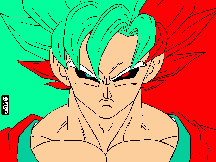 goku coloring pages - coloring page evil goku