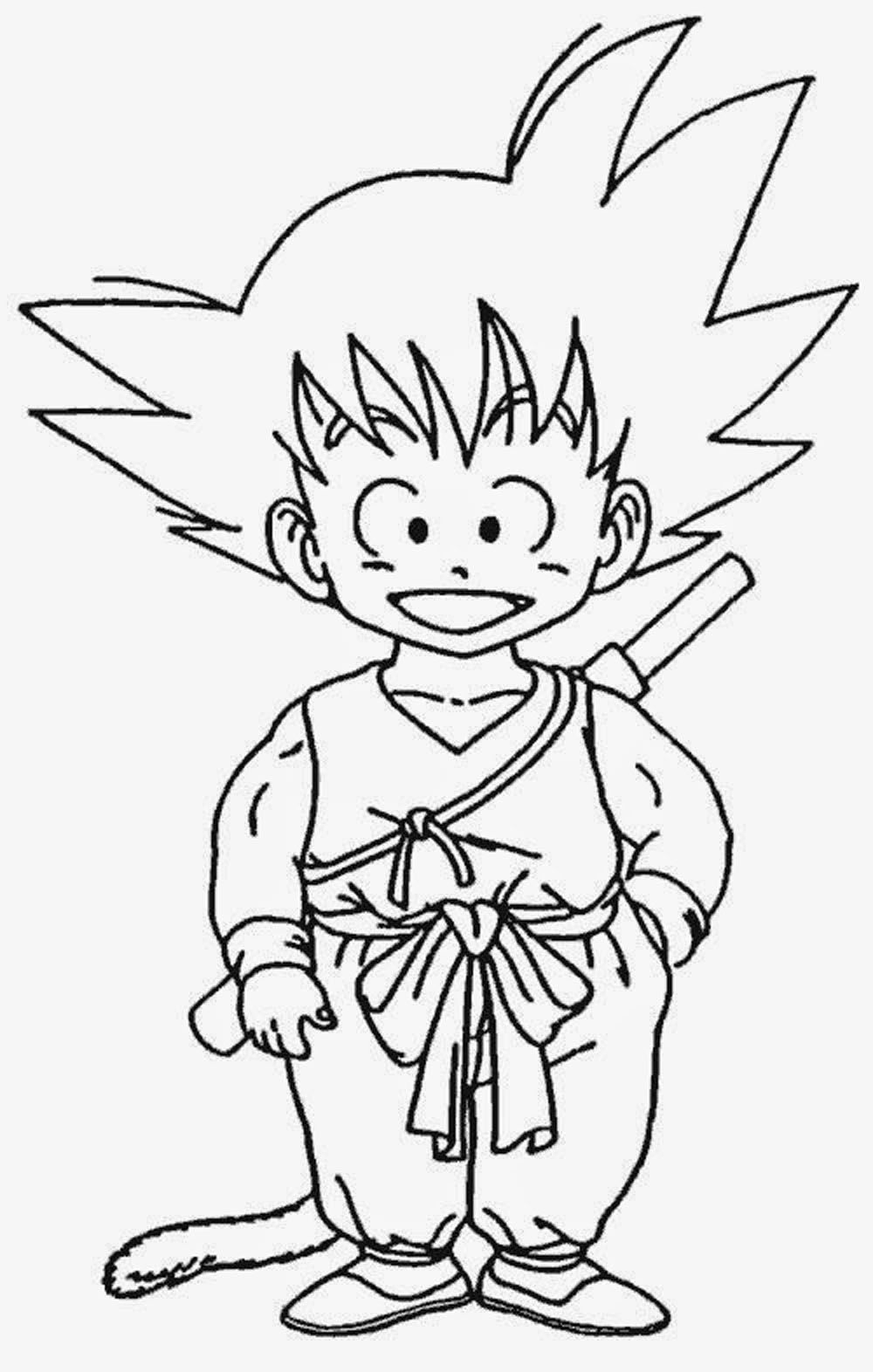 goku coloring pages - goku para pintar