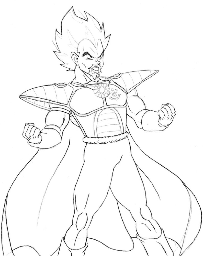 goku coloring pages - King Ve a Sketch