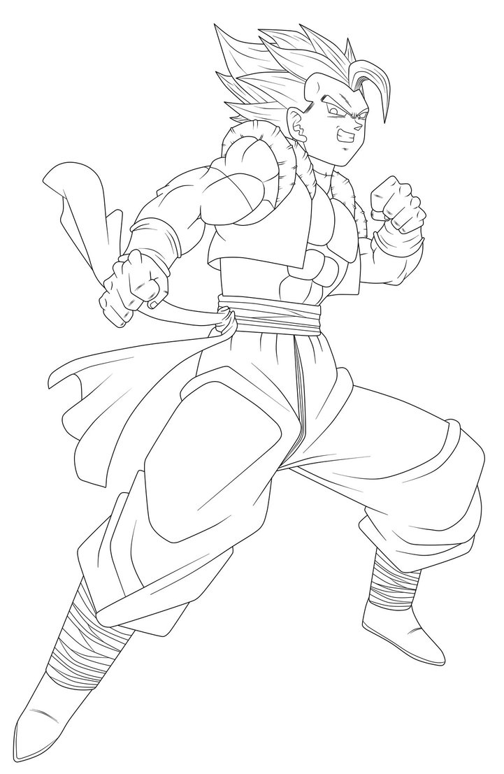 goku coloring pages - Xeno Go a Lineart