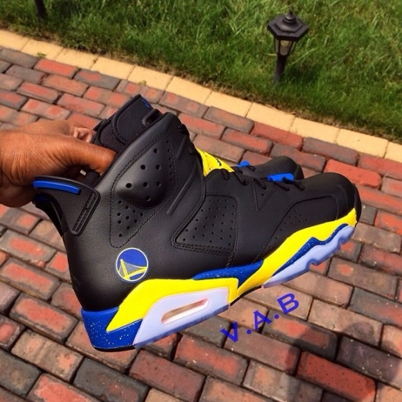 golden state warriors coloring pages - air jordan 6 golden state warriors customs by vab