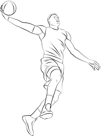 golden state warriors coloring pages - joueur de basketball