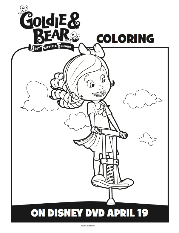 goldie and bear coloring pages - free gol and bear coloring pages