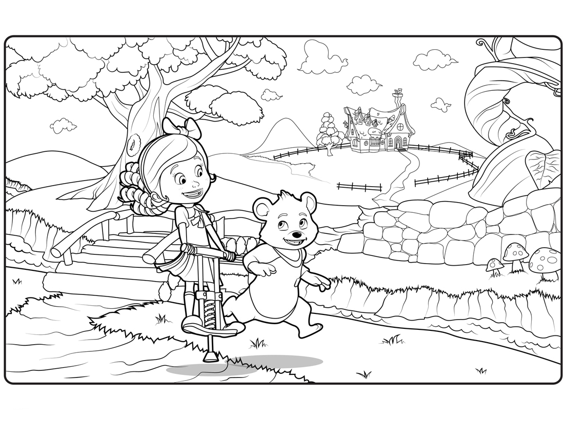 goldie and bear coloring pages - gol and bear coloring pages