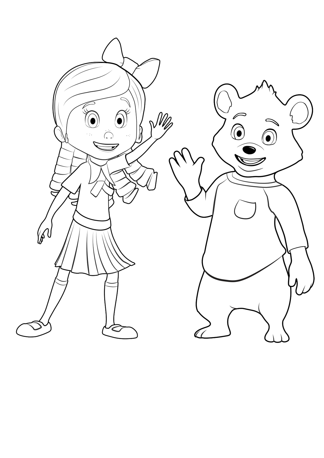 Goldie and Bear Coloring Pages - Gol and Bear Coloring Pages to and Print for Free