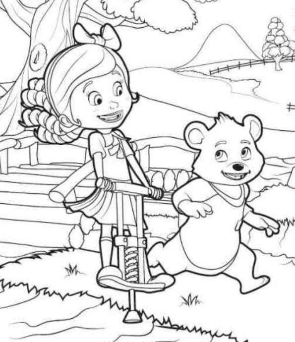 goldie and bear coloring pages - gol and bear