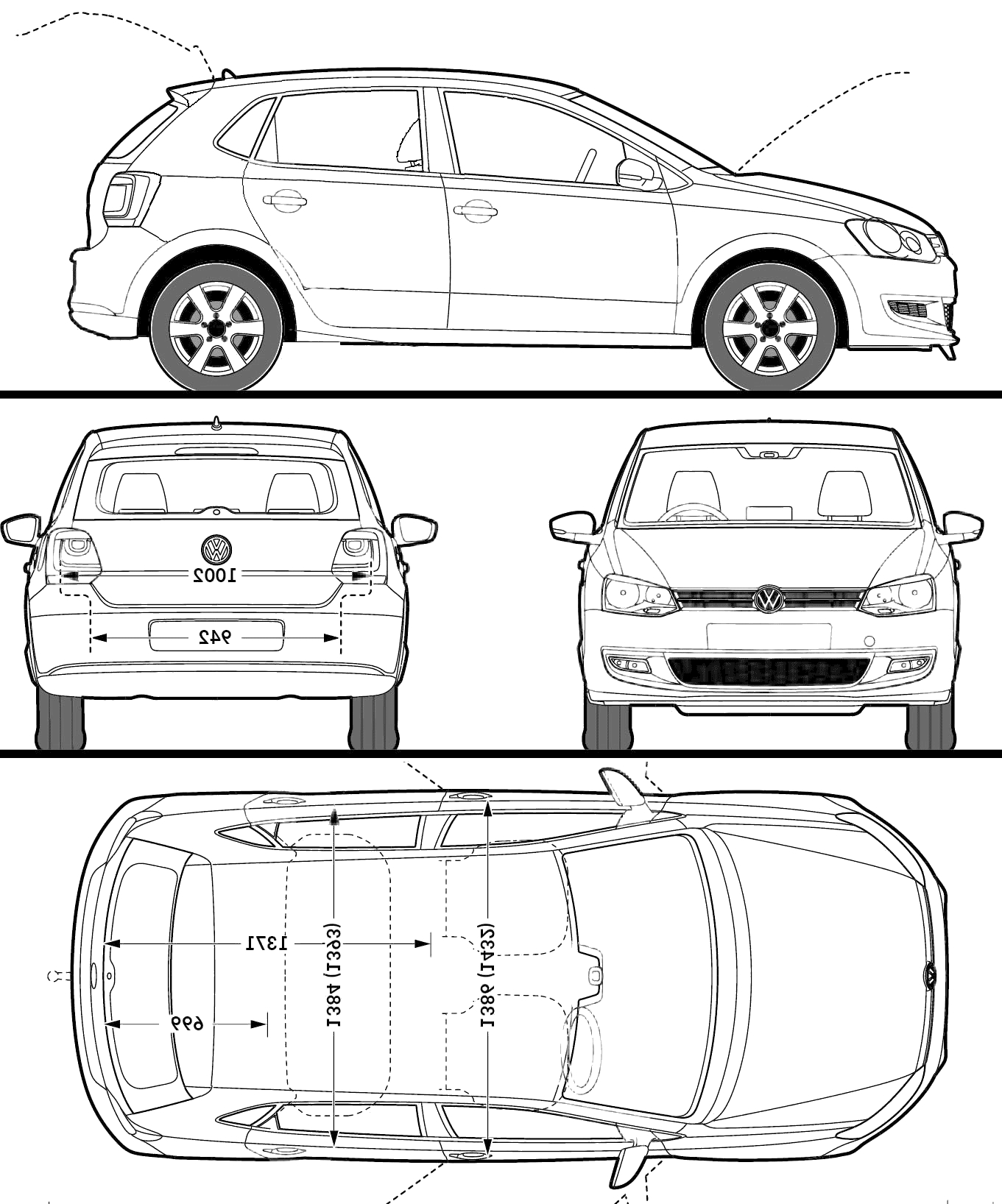 golf coloring pages - volkswagen polo 5 door 2009