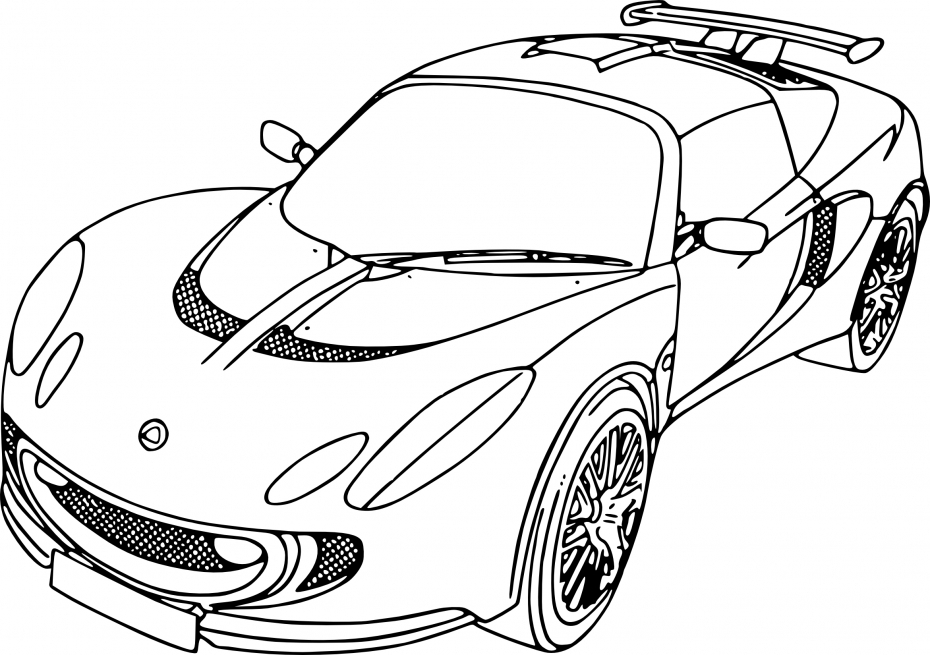 golf coloring pages - voiture de luxe