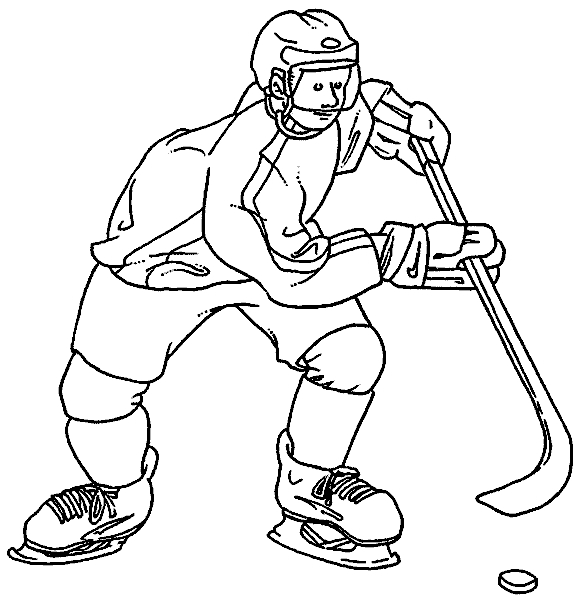 golf coloring pages - hockey