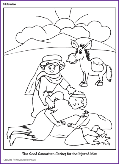 good samaritan coloring page - q=the good samaritan