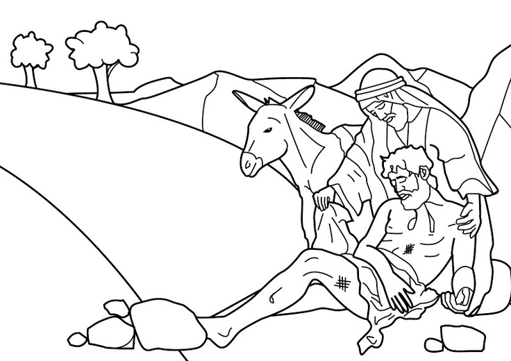 good samaritan coloring page -