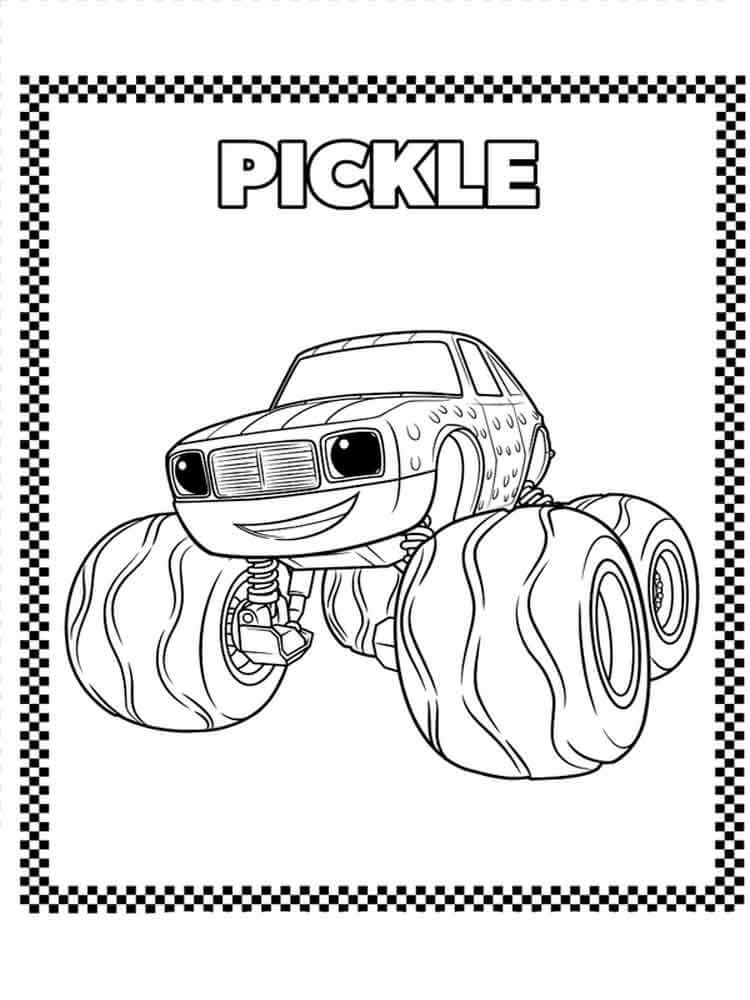 goofy coloring pages - blaze and the monster machines coloring pages