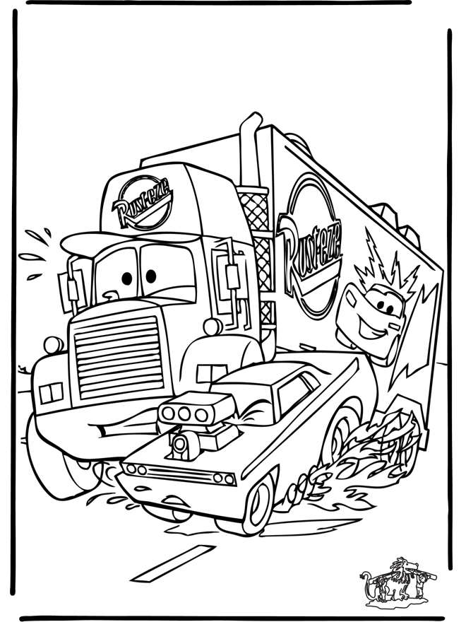 goofy coloring pages - cars 6
