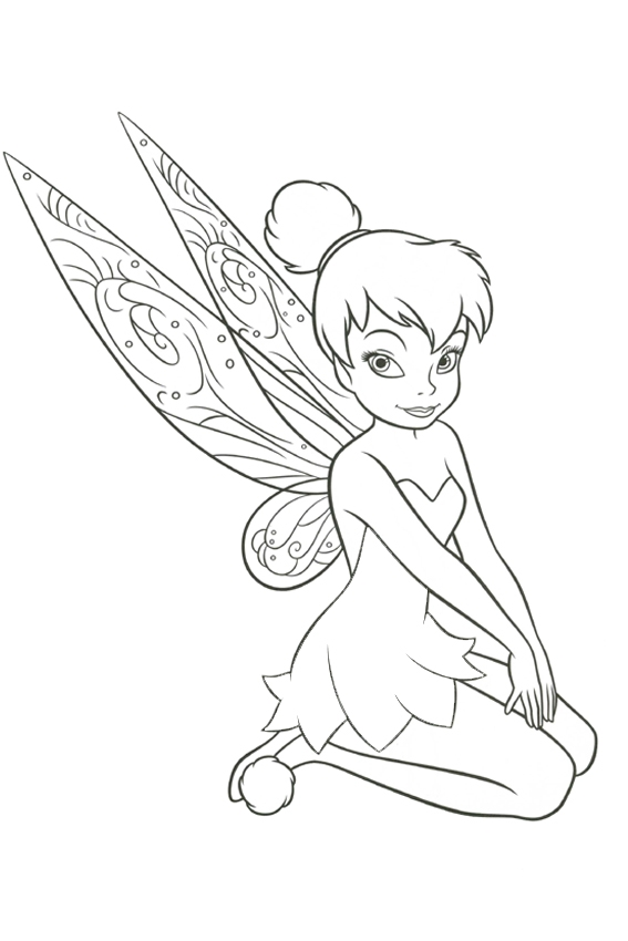 goofy coloring pages - tinkerbell coloring pages