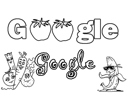 google coloring pages - fruits coloring pages