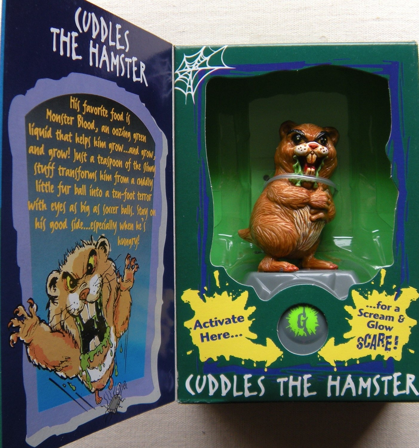 goosebumps coloring pages - File Cuddles the hamster action figure box