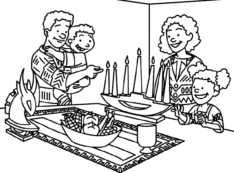 goosebumps coloring pages - kwanzaa coloring pages food sketch templates