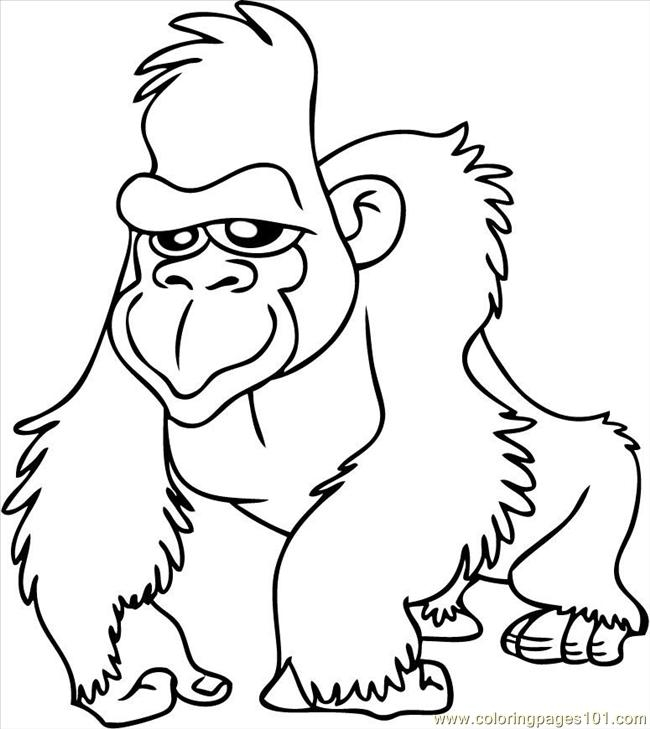 gorilla coloring pages - coloring gorilla page 2