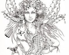 gothic coloring pages -