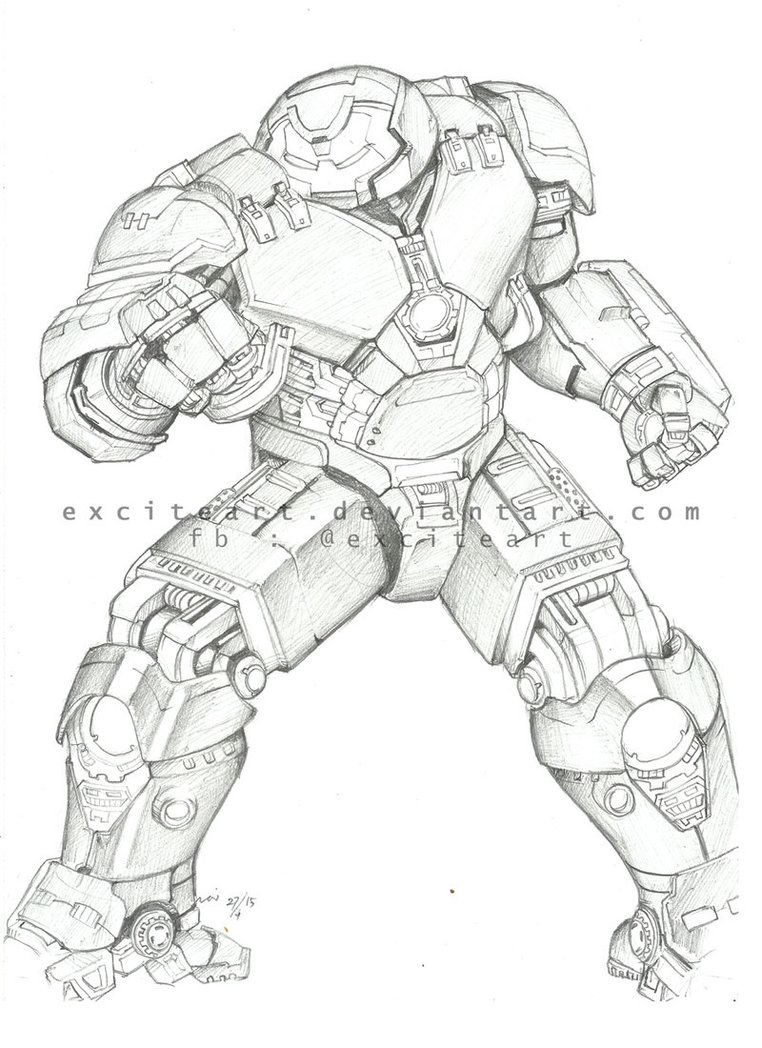 gothic coloring pages - Hulkbuster