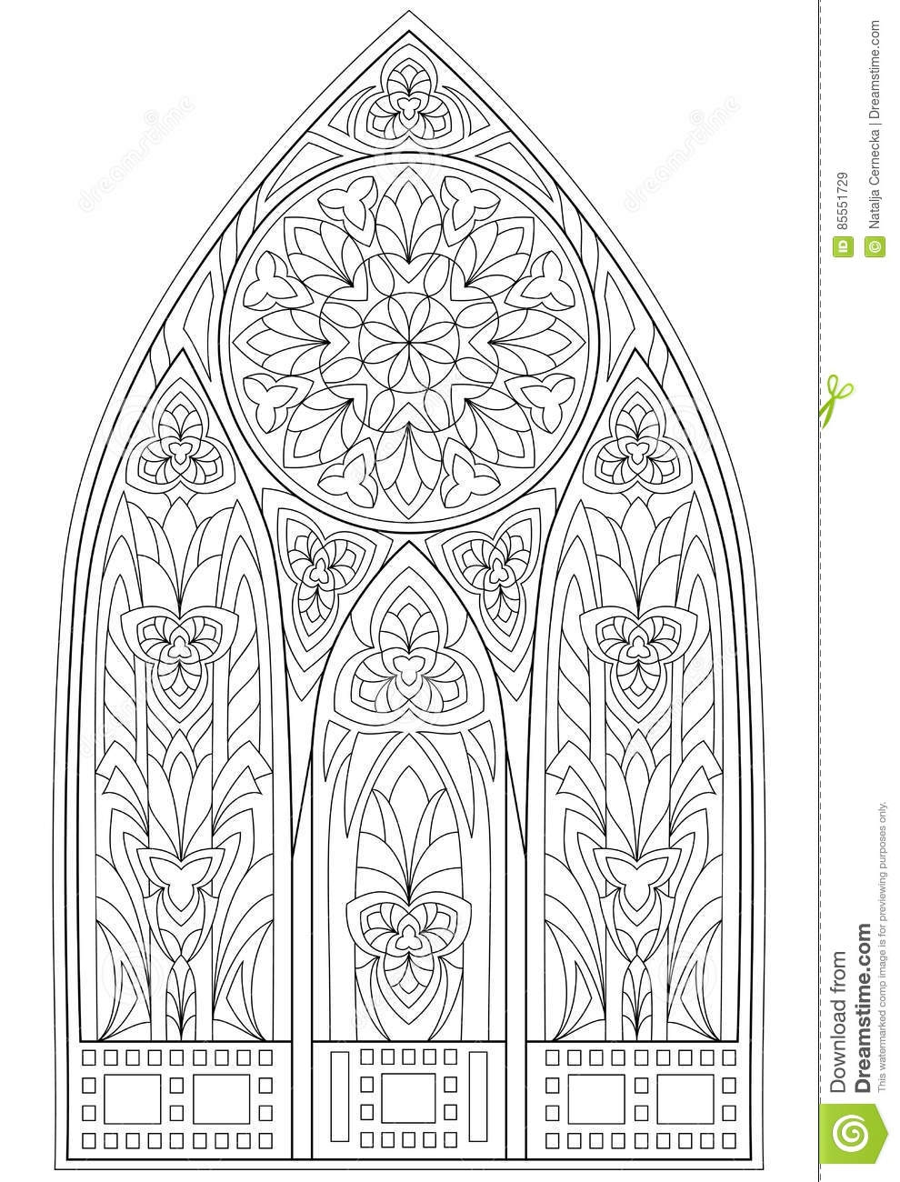 Gothic Coloring Pages - Page with Black and White Drawing Beautiful Me Val