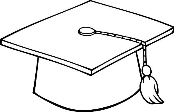 graduation cap coloring page - blues graduation coloring pages 2