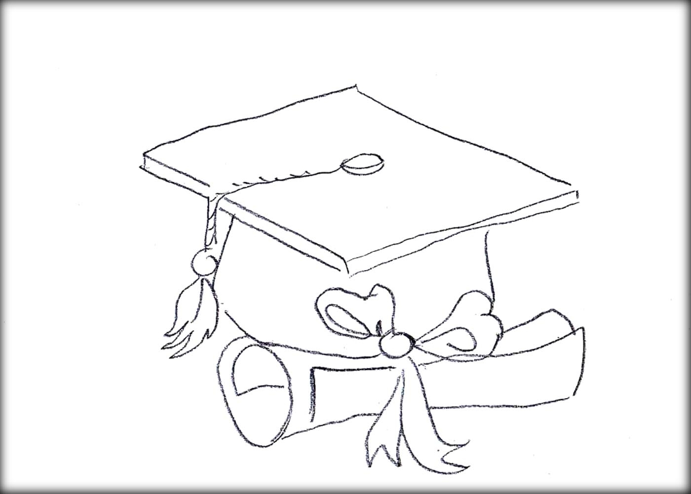 graduation cap coloring page - graduation cap coloring page