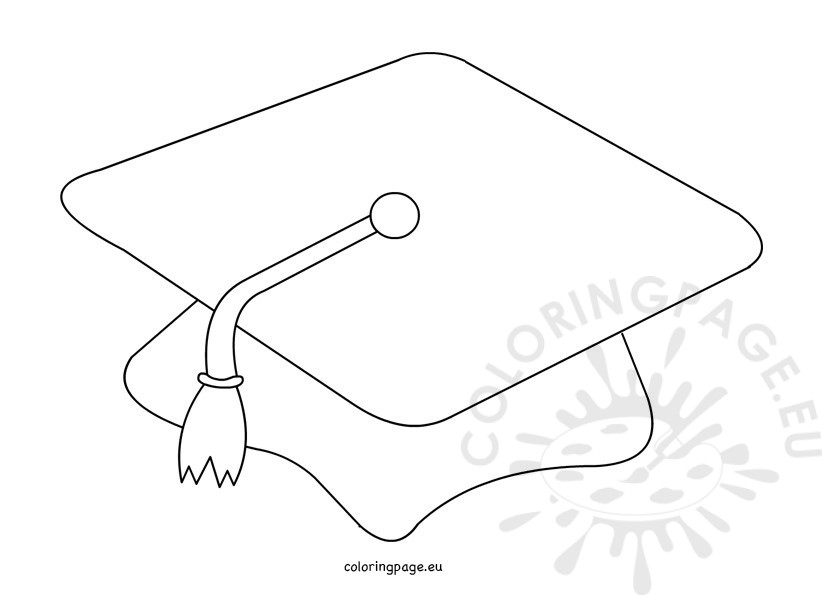 graduation cap coloring page - graduation cap coloring sheet sketch templates
