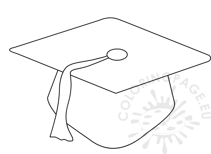 graduation cap coloring page - preschool graduation cap pattern