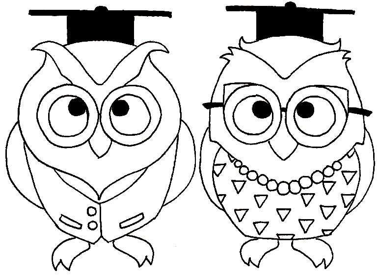 Graduation Coloring Pages - Graduation Owls original by Modacephalopoda On Deviantart